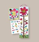 Growth Chart Hot Pink Flower