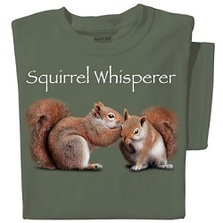 Tshirt Squirrel Whisperer Olive Green MED