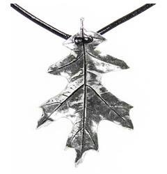 Pendant Oak Leaf Pewter Oberon Design