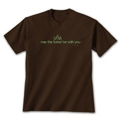 Tshirt May the Forest Brown MED