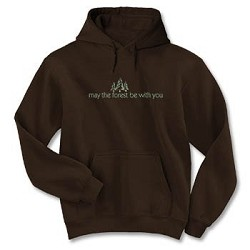 Hoodie May the Forest Brown LG