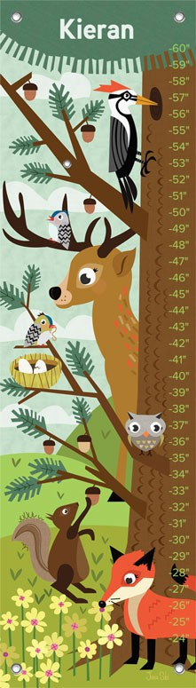 Growth Chart Woodland Creatures,NB18984