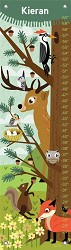 Growth Chart Woodland Creatures