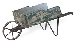 Wheelbarrow Green Metal,HHC18435