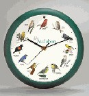"Bird Clock 13"" Green,AUD13  #"