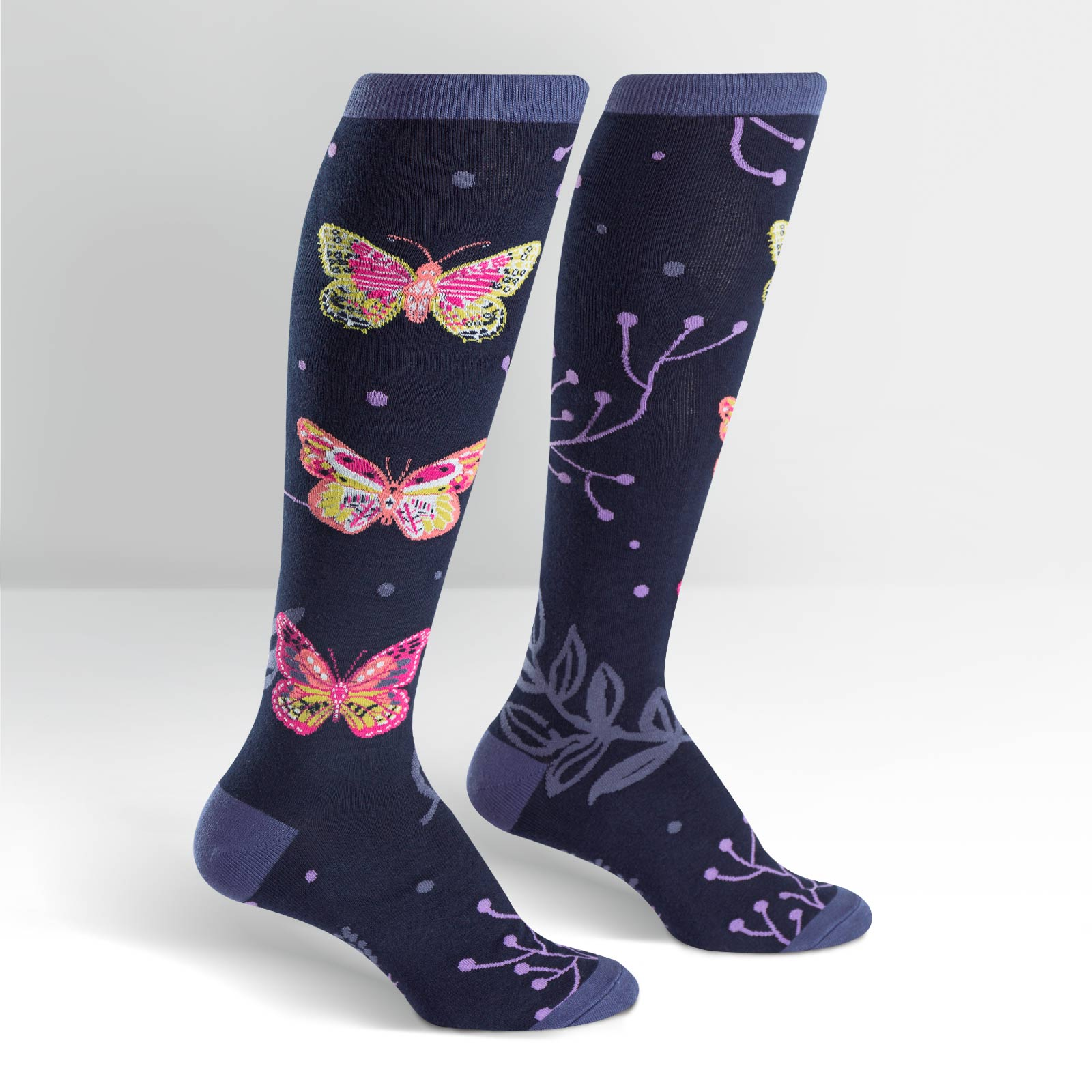 Sock Madame Butterfly,F0343 MDM BFLY