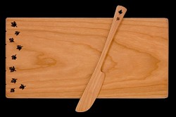 Cheese Board + Spreader Leaf Design