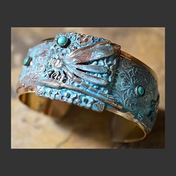 Dragonfly Cuff w/ Turquoise