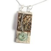 Necklace Birch Bark/Roman Glass,AMN20