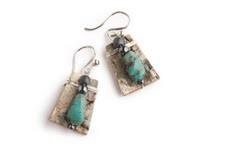 Earring Turquoise/Hematite