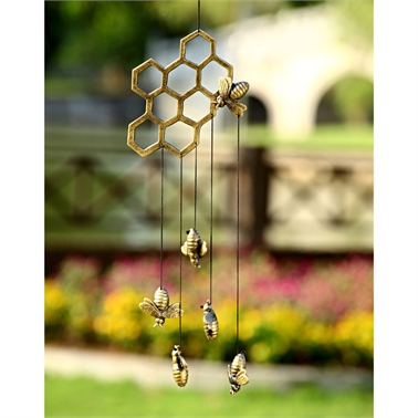 Windchime Bee/Honeycomb,34285