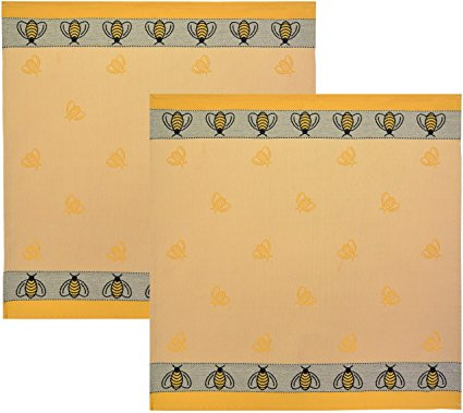 Towel Square Bee Yellow/Black 26x26,8SY-BEE TERRY