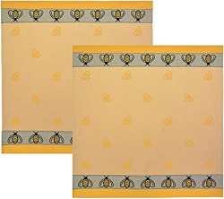 Towel Square Bee Yellow/Black 26x26