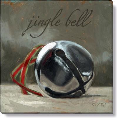 "Canvas 9"" Jingle Bell,122-S-0909"