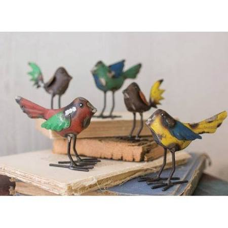Metal Birds Recycled Asstd,NBA1141