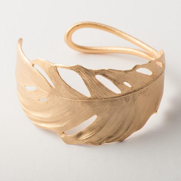 Cuff Feather Gold,7252BZG