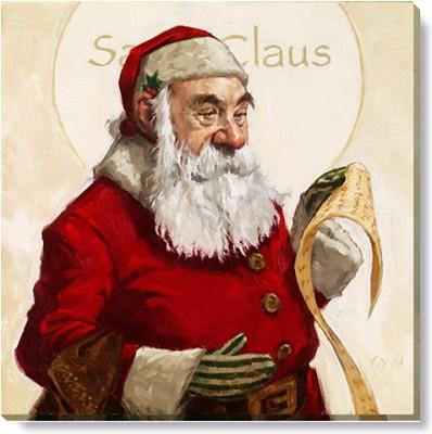 "Canvas 9"" Santa,173-S-0909"