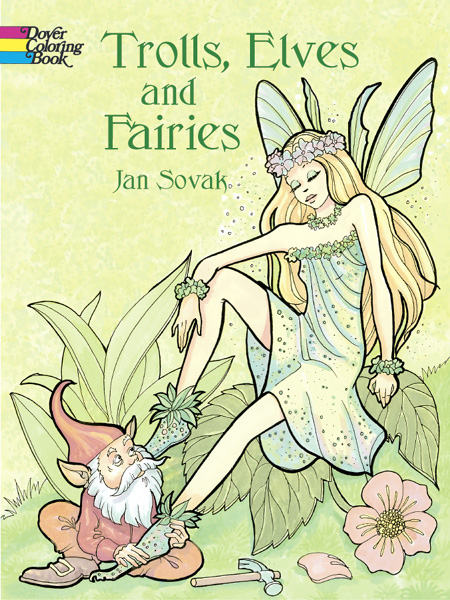 Trolls, Elves, and Faries Coloring Book,423824