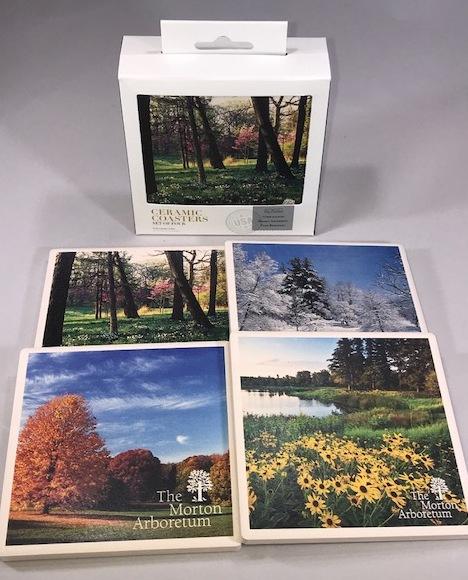 Arboretum Four Season Ceramic Coaster Set,49248