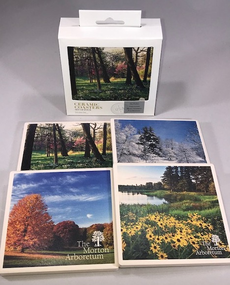 Arboretum Four Season Ceramic Coaster Set,49248